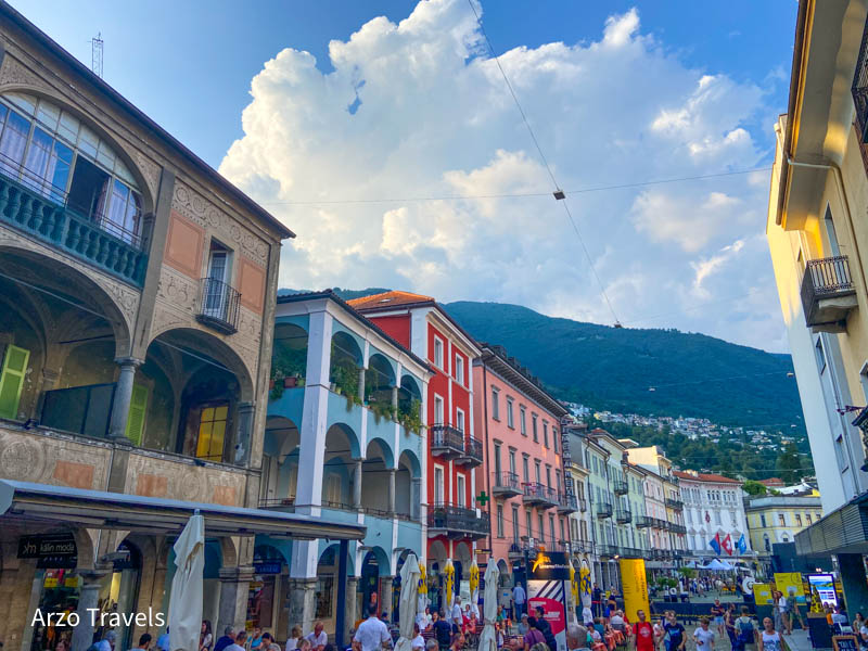 Locarno old town in Ticino with Arzo Travels