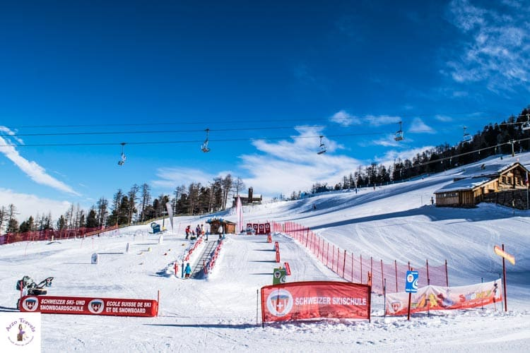 Things to do in Grächen in the winter for children, family park at Hannigalp
