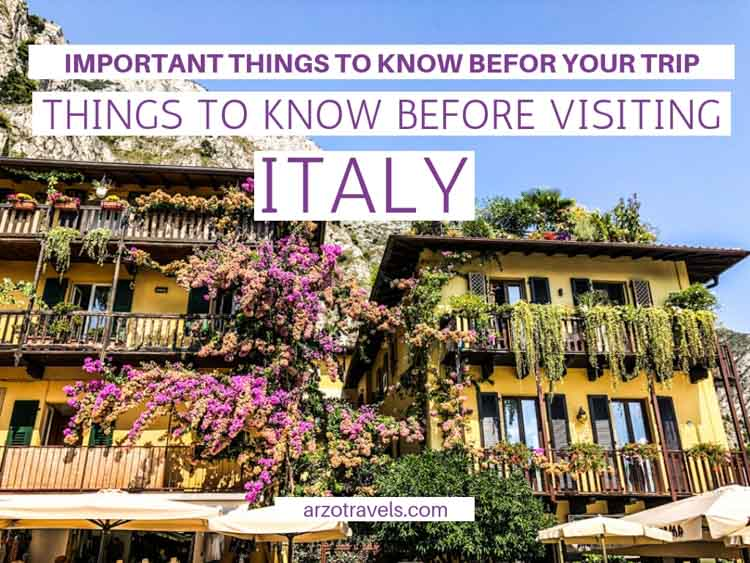 Italy Travel Tips – Things to Know Before Visiting Italy