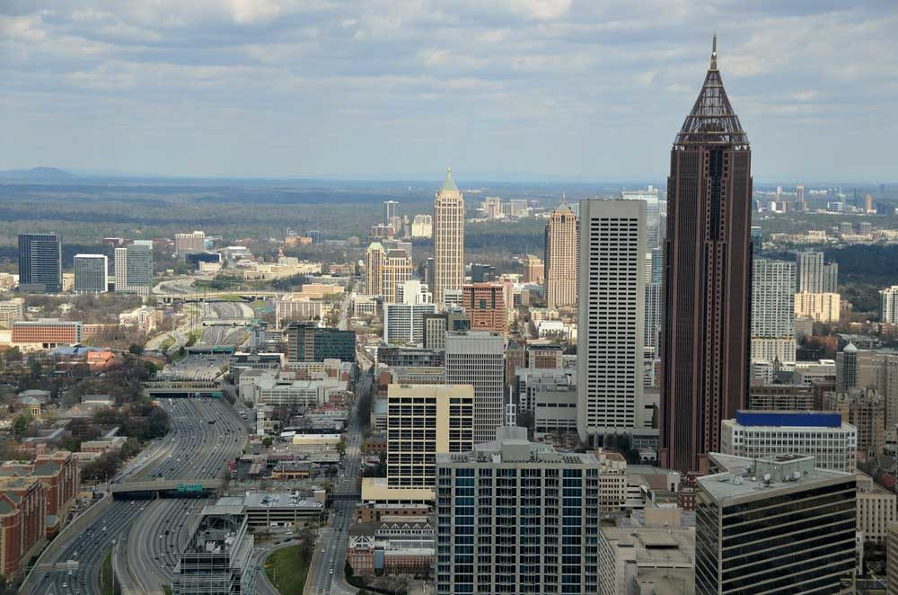 Atlanta in fall and spring to visit in the US