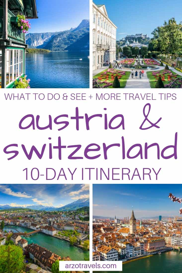 Austria and Switzerland itinerary, see the best of the country in 10 days- Pin me on Pinterest
