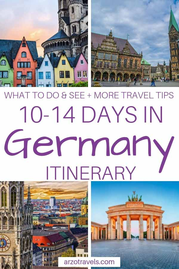 Germany in 10-14 days. Best places to visit and see in Germany itinerary. Places to see and things to do in 2 weeks in Germany. PIN ME