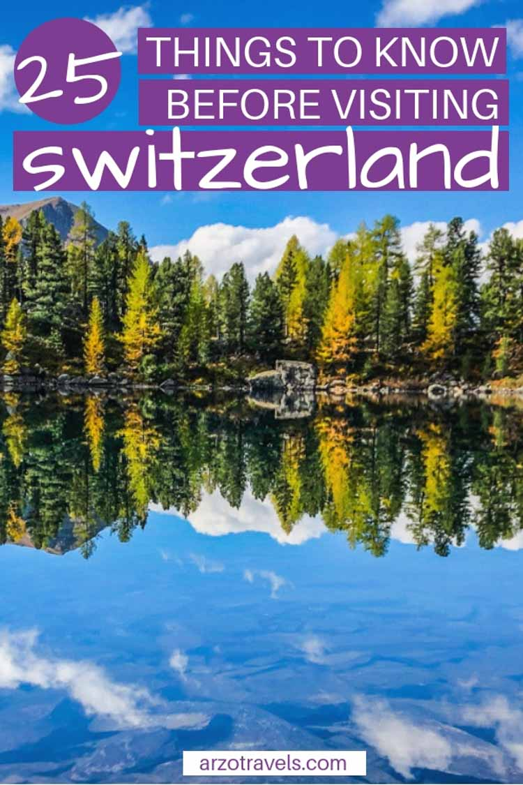 Here are 25 things you should know before visiting Switzerland Europe. Best Switzerland travel tips, Pin me on Pinterest