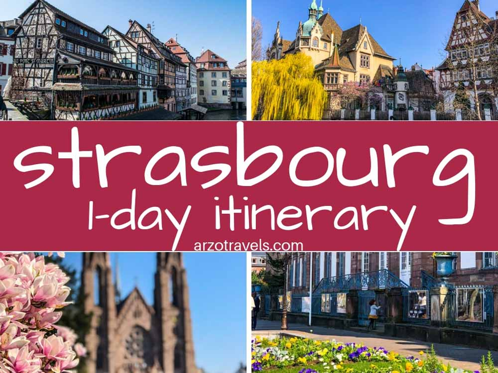 Where to go and what to do and see in Strasbourg in one day or two days. France