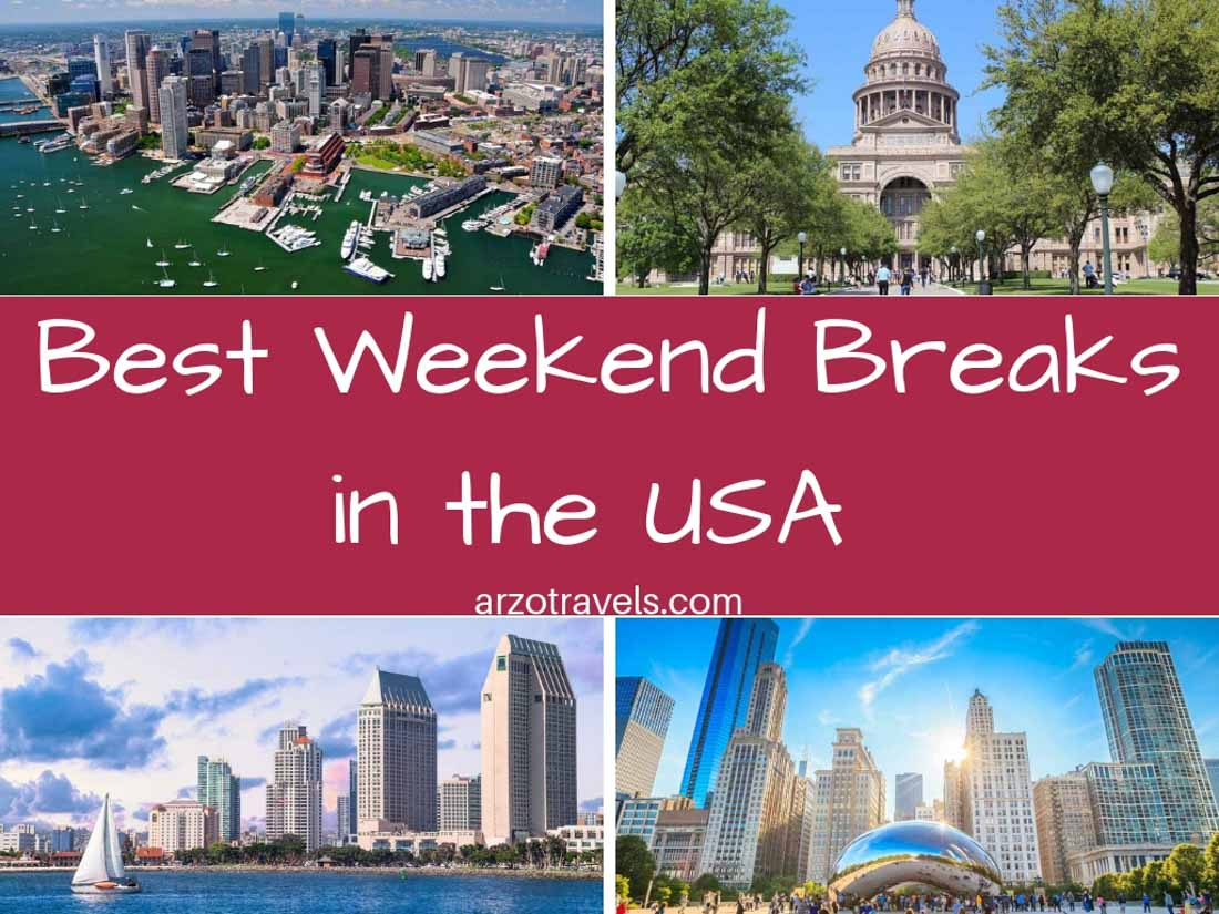 Where to go in a weekend in the US