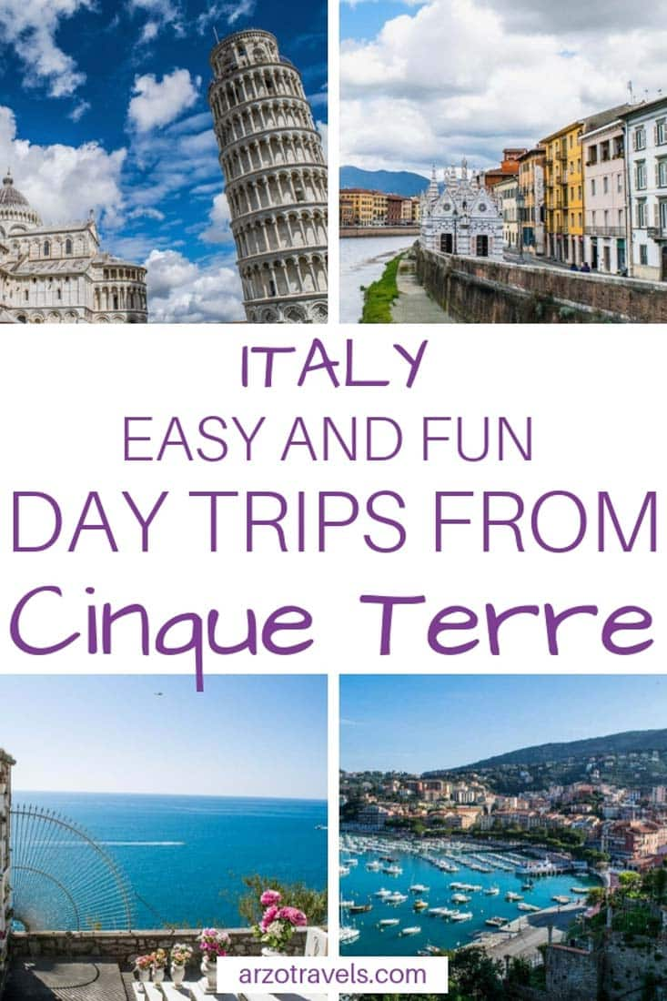 Best and easy day trips to take from Cinque Terre, Italy. Where to go and what to see
