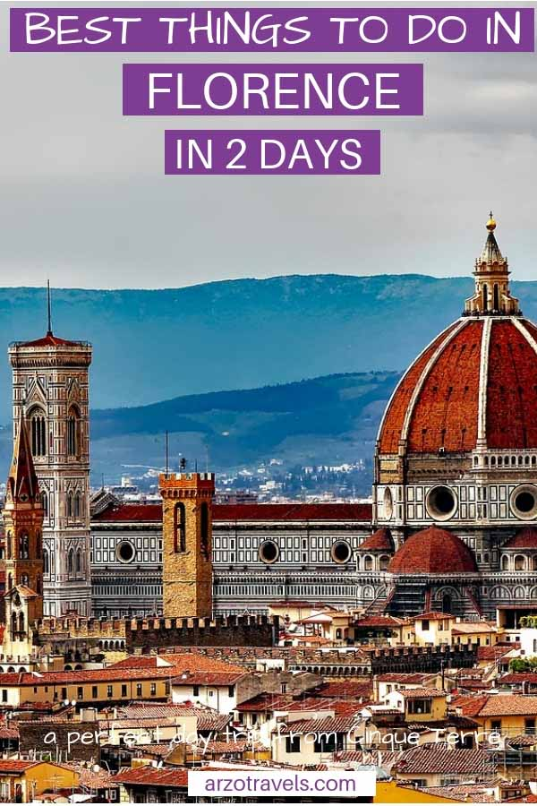 Best things to do in Florence in 1 or two days. An itinerary with the best things to do and see in Florence, Italy. Where to go and what to do -pin me on Pinterest
