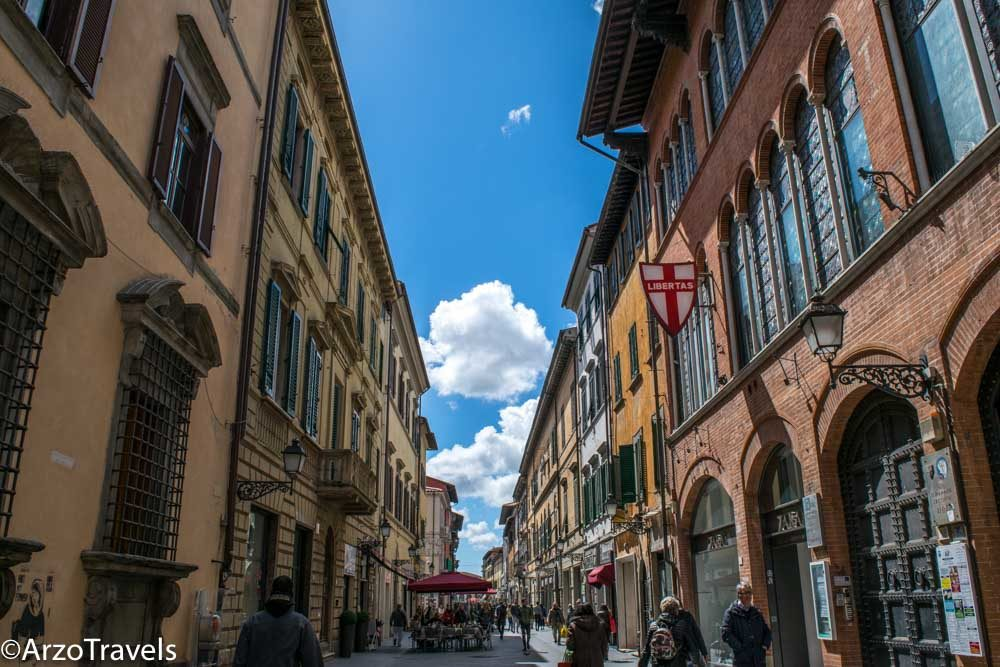 Corso Italia in Pisa, the main shopping street
