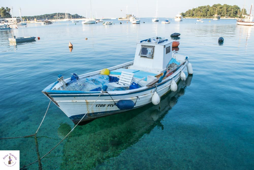 Croatia, Rovinj fisher boat, what to see in Rovinj