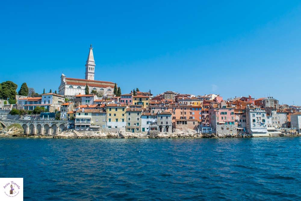 Croatia, Rovinj seen from a boat trip