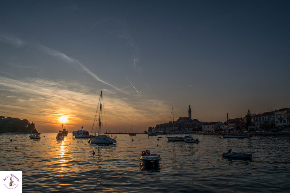 Croatia, Rovinj sunset in one day