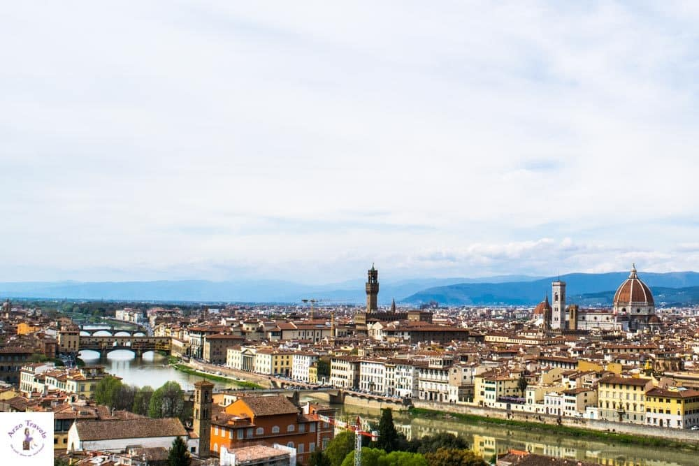 Day trip to Florence, view from Michaelangelo Piazza