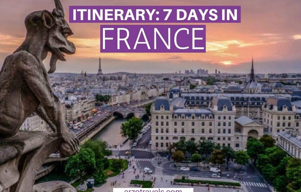 One Week in France – Itinerary
