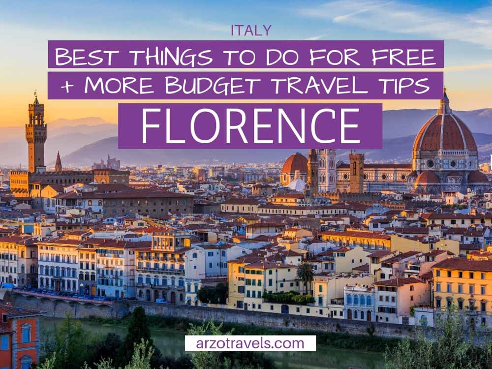 Florence, Italy, on a budget. Here are the best budget travel tips for Florence