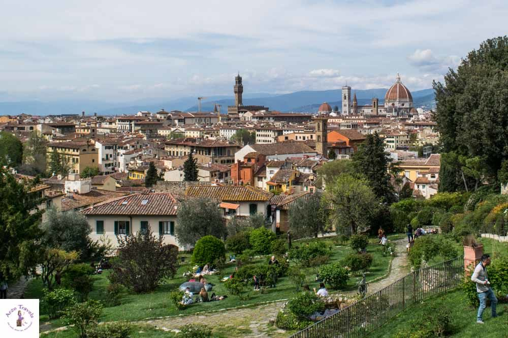 Florence Rose Garden with a view for your Florence itinerary
