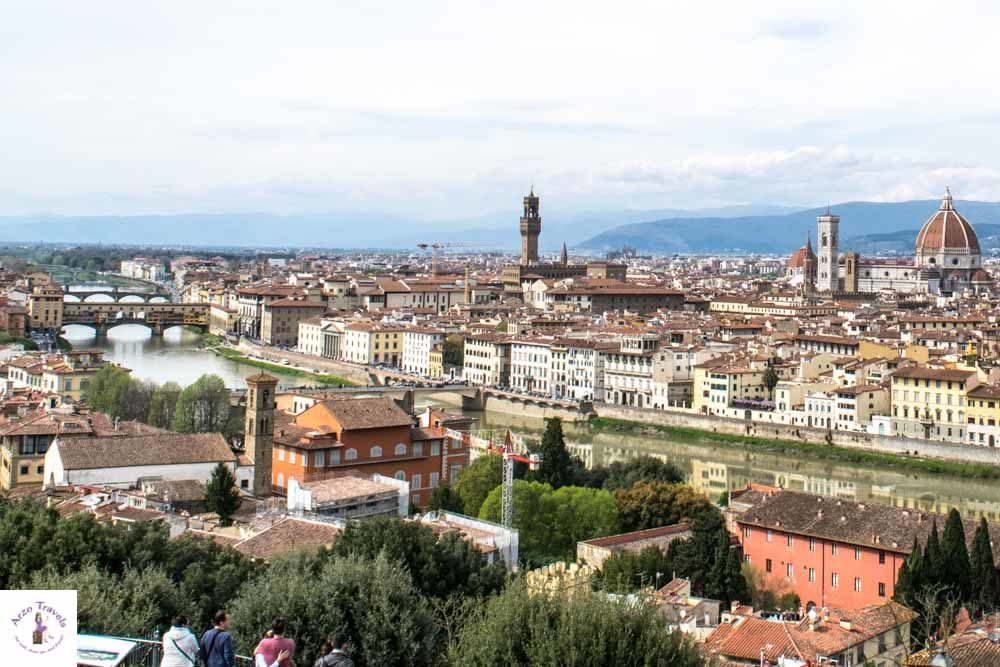 Florence view from Piazzale Michelangelo is one of the best things to see
