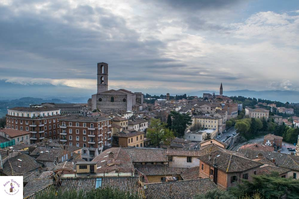 Perugia view, one of the best of the beaten places in Italy