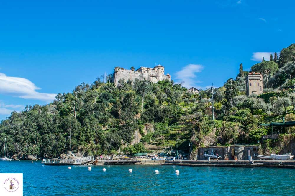 Portofino Castle seen from boat