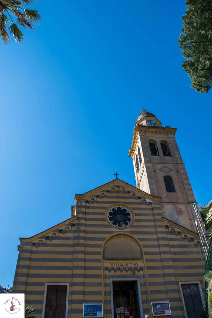 Portofino church, one of the main tourist attractions in Portofino