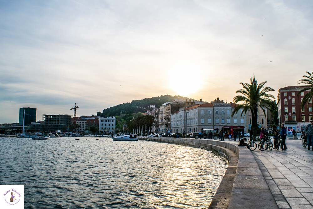 Riva Waterfront in Split is one of the most beautiful places in Split, Crotia