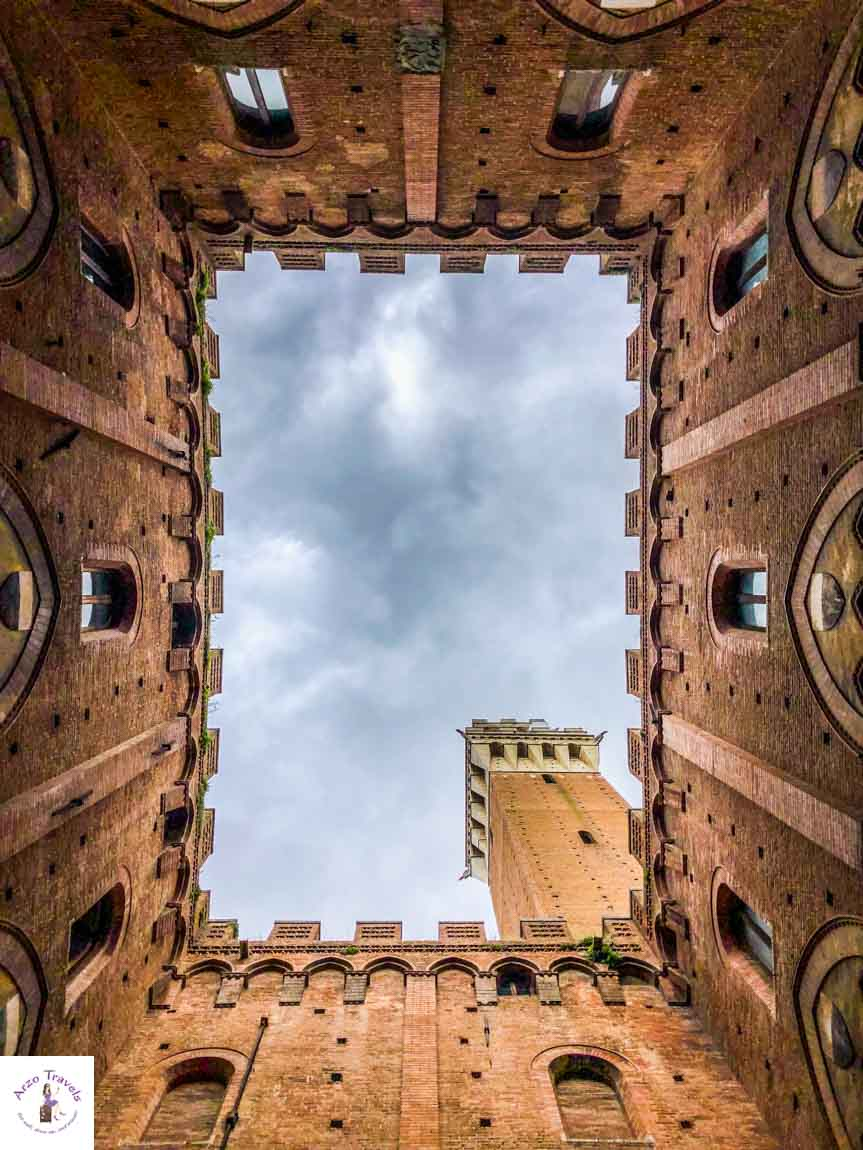 Siena tower, looking up