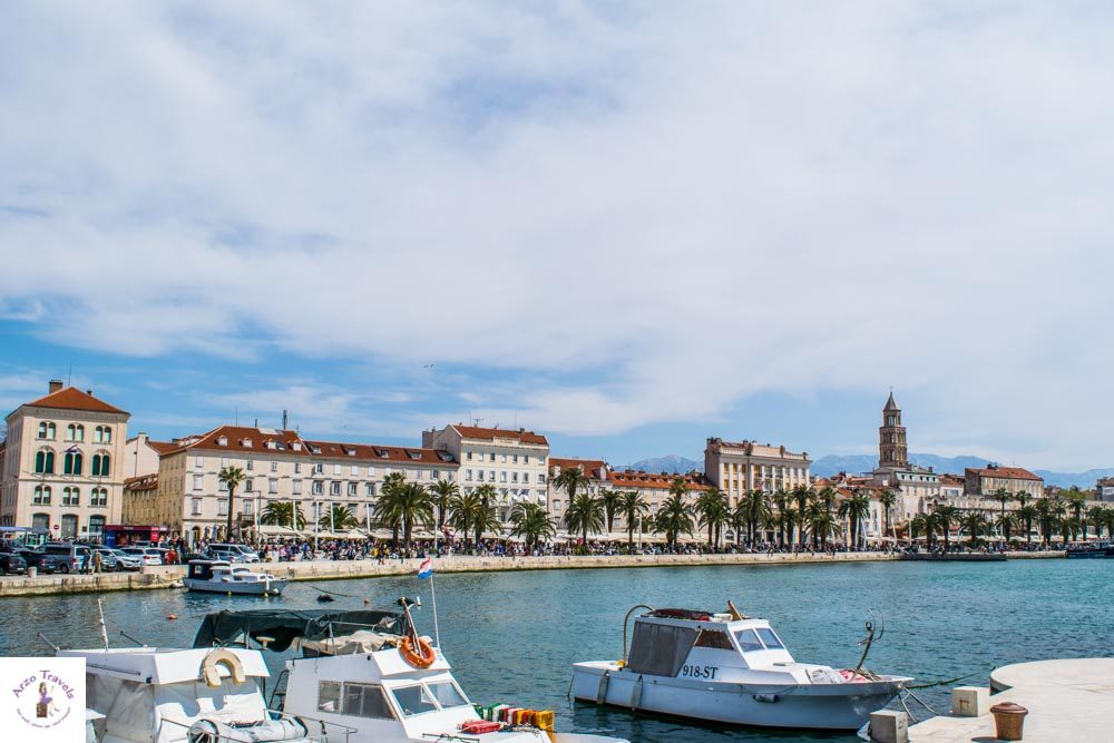 Split waterfront is one of the most beautiful places in Split, Croatia