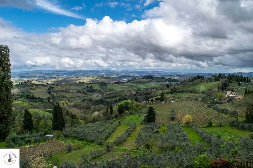 Tuscany Val D`Ora and the green lush hills