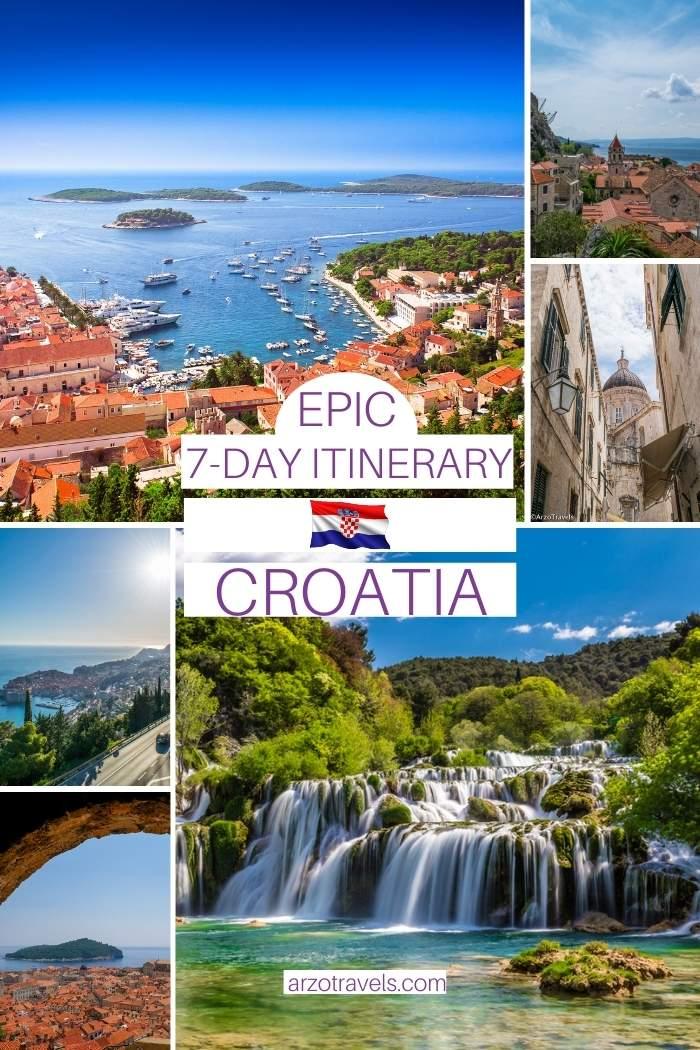 7-day Croatia itinerary, Arzo Travels