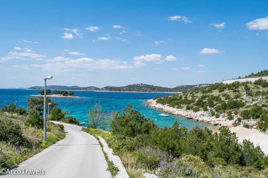 Beach in Croatia, road trip in Croatia