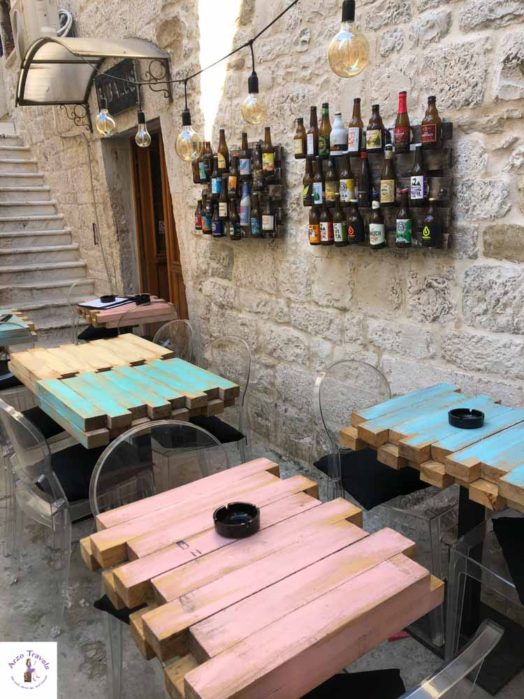 Cute, colorful cafes in Trogir