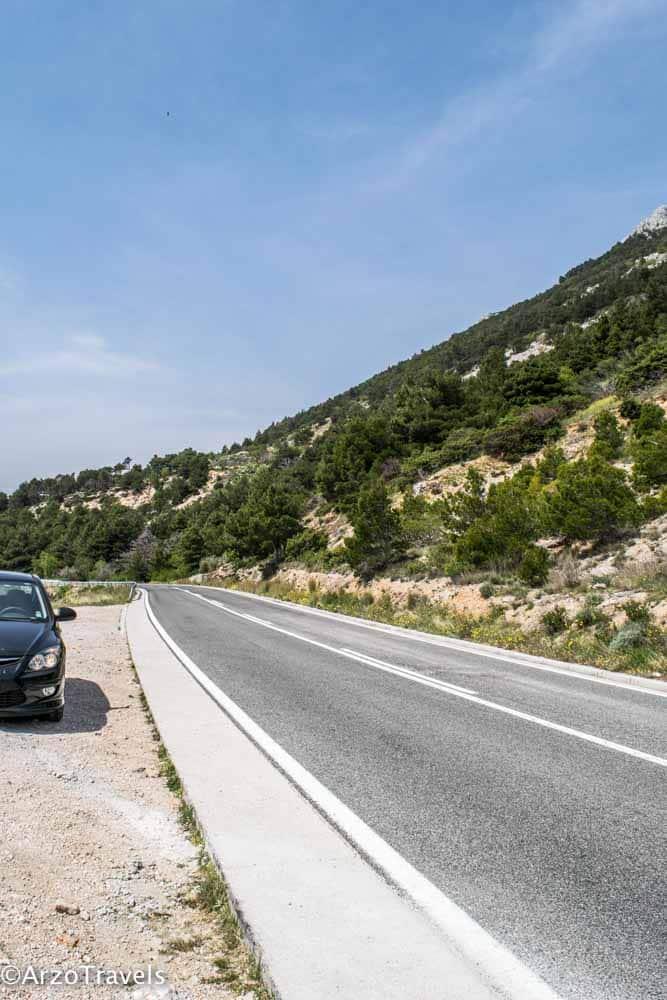 D8 street in Croatia when road tripping