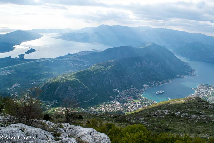 Views from driving in Kotor, Montenegro