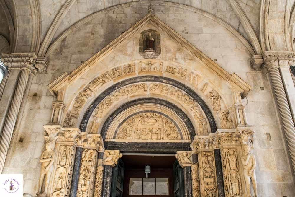 Door of the cathedral in Trogir