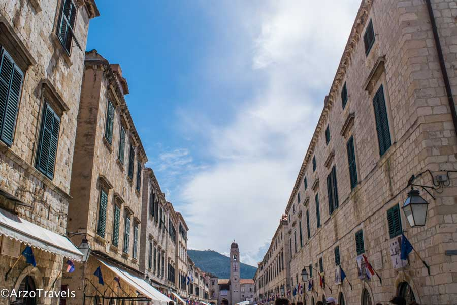 Dubrovnik Stradun is the main street
