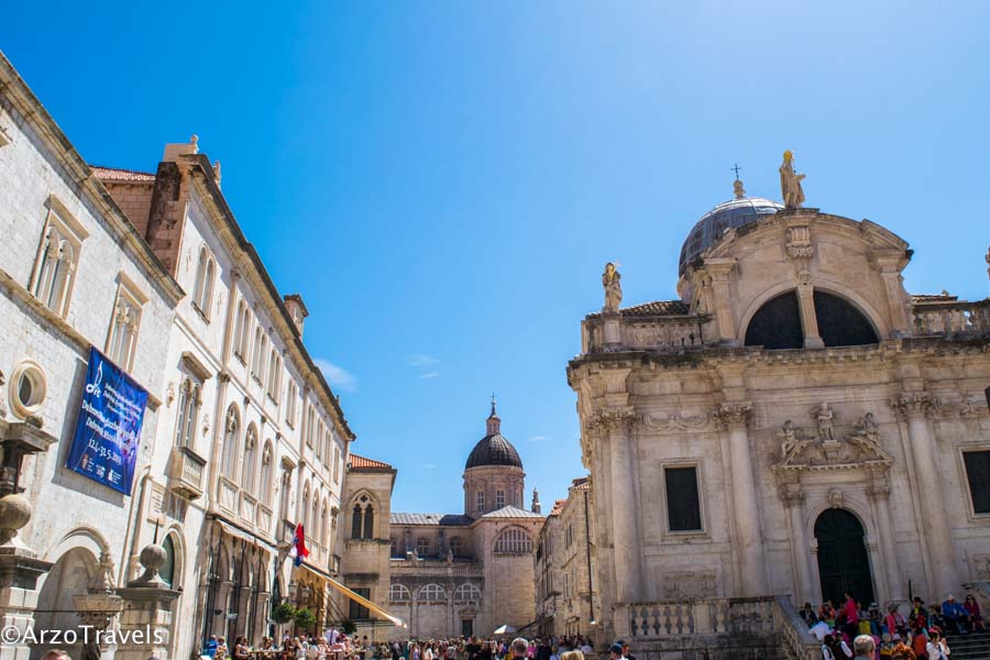 Dubrovnik main tourist square
