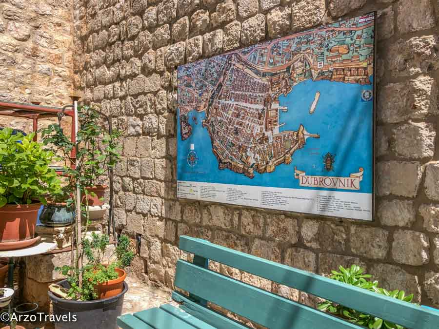 Dubrovnik map how to get around