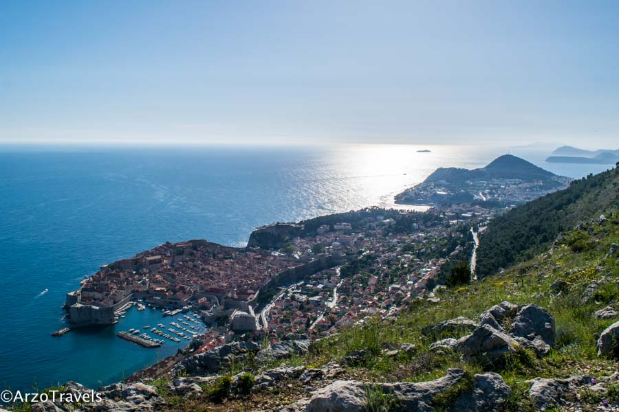 Dubrovnik old town view Srd Hill