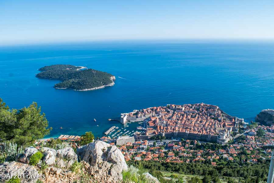 Dubrovnik old town view Srd Mountain