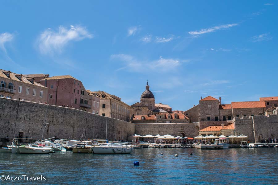 Dubrovnik port is one of the most beautiful places to visit