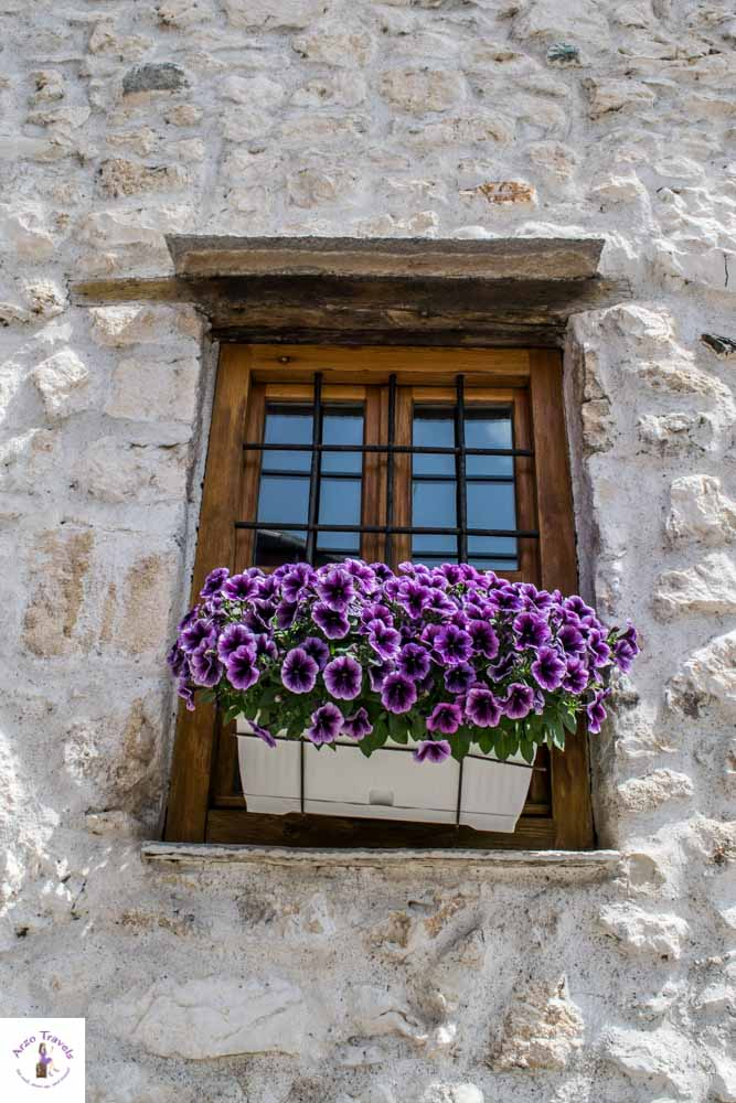 Flower pot in Mostar, Bosnia_