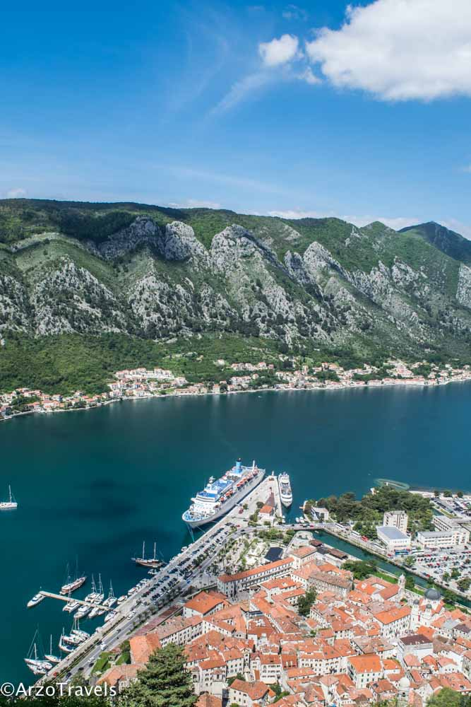 Kotor view from above, one of the most beautiful places in Kotor