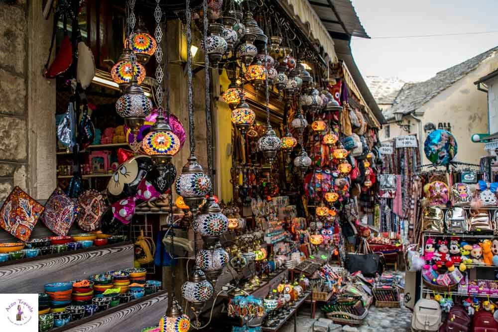 Mostar shop selling souvenirs in the old town