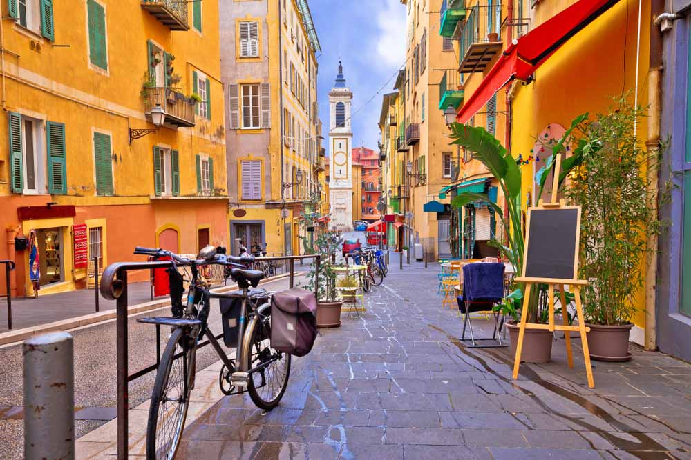 Nice colorful street architecture and church view, one of the best things to do in 3 days