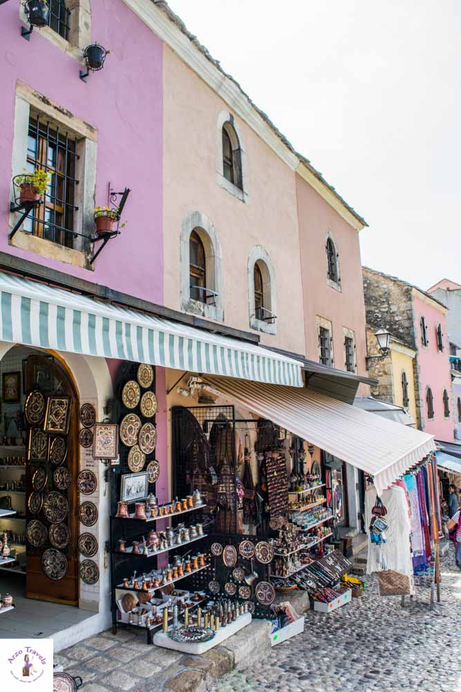 Old town with colorful houses in Mostar is one of the best things to do and visit