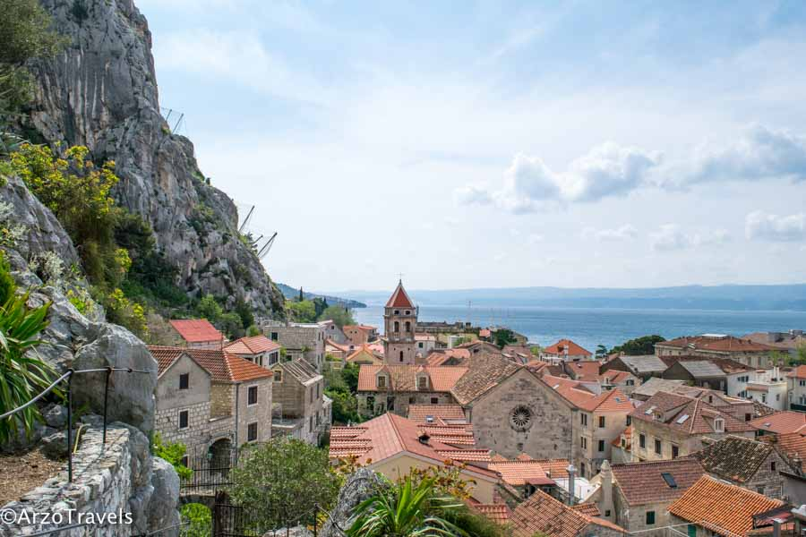 Omis view from the fortress