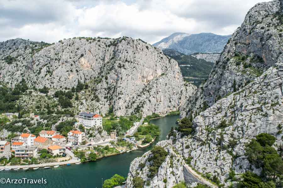 Omis view from the fortress of the fjords