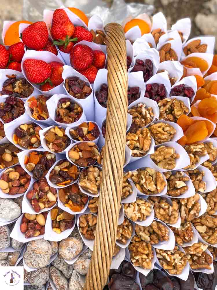 Pocitelj snacks for sell, one of the most beautiful places to visit in Bosnia