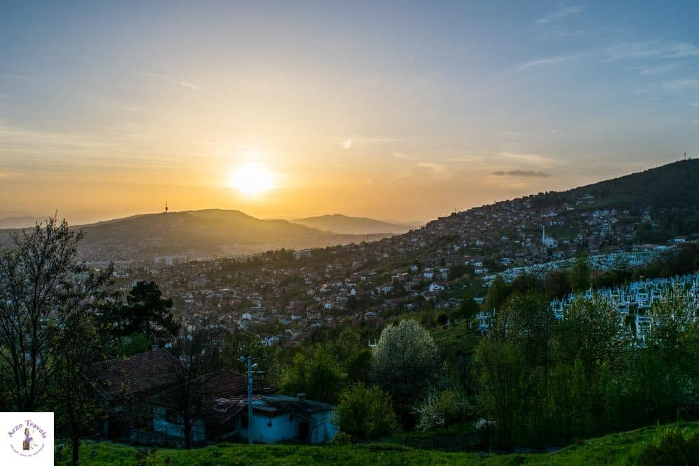 Sarajevo best views to watch sunset