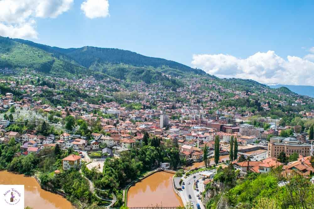 Sarajevo view from Yellow Fort is one of the best places to visit