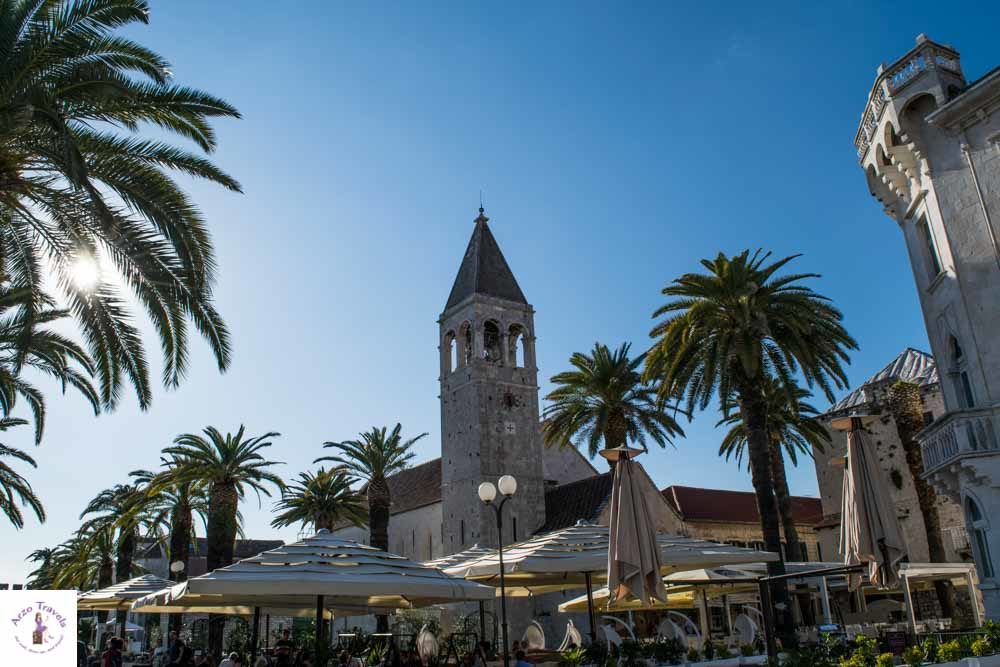 Seaside promenade in Trogir, Croatia